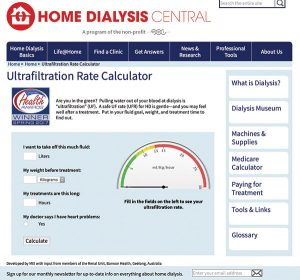 Ultrafiltration Rate Calculator