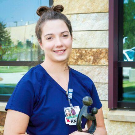 Emily Pechous, RN, receives DAISY Award