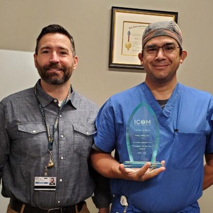 Dr. Irony Sade receives Preceptor of the Year award